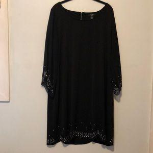 Alfani Woman Cocktail Dress Sparkle Black Size 2X